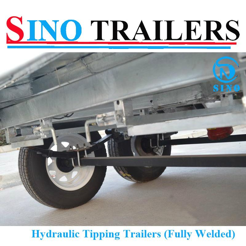 Fully Welded Hydraulic Tipping Tandem Box Trailer 5