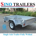 Australian Market Fully Welded Single Axle Box Trailer with Cage 2