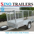 Australian Market Fully Welded Single Axle Box Trailer with Cage 3