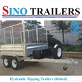10X6 FT Galvanised Hydraulic Tipping Box Trailer with Cage 2