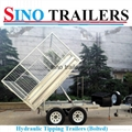 10X6 FT Galvanised Hydraulic Tipping Box Trailer with Cage 3