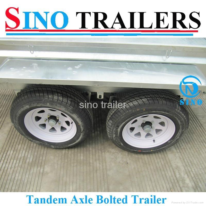 Wholesale 2t  Galvanized Tandem Box Trailer 4