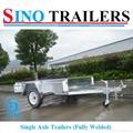Australian 750kgs Galvanized Single Axle Fully Welded Box Trailer 1