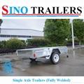 Australian 750kgs Galvanized Single Axle Fully Welded Box Trailer 2