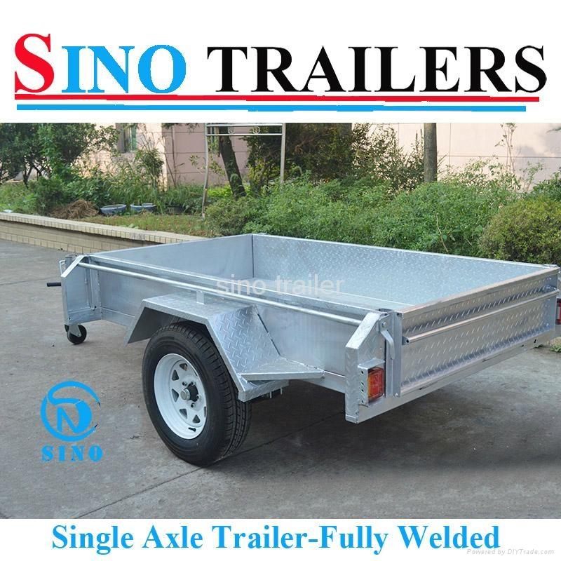 7X5 Single Axle Agricultural Farm Box Trailers  2