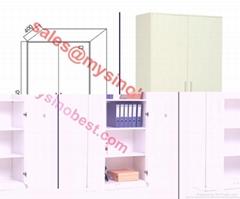 swing glass door metal cabinet 4A size storage file cabinet best selling office