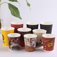 12oz Ripple Wall Paper Cup for Hot Beverage