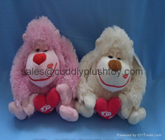 Valentine Stuffed Dog Toys Plush Dog Animals