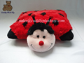 Custom made plush ladybug pillow toys