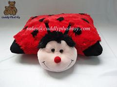 Custom made plush ladybug pillow toys