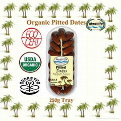 Dates Deglet Noor Organic Pitted Dates Tray 250 g