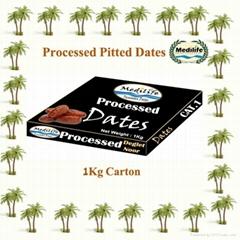 Dates Deglet Noor Processed Dates Carton 1 Kg