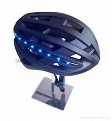 Integrated Full Color LED Light Road Bike Bicycle Helmet