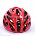 Hot sale red lightweight adults bicycle helmet