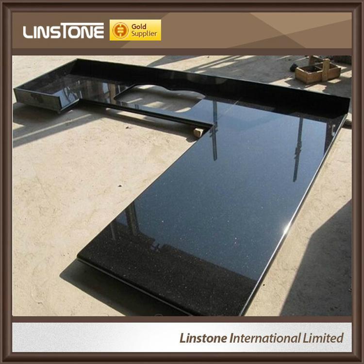 Black Galaxy Composite Granite Countertop Slabs Marble Tile Price