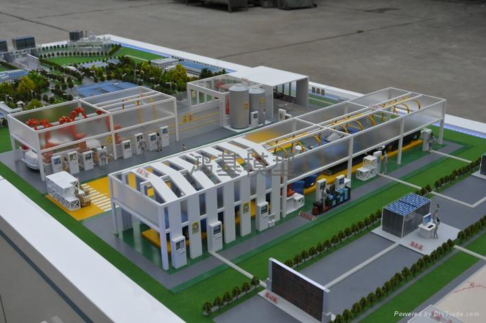 厂区沙盘模型 1