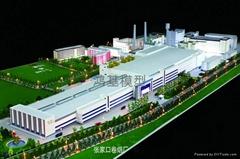 工業廠區沙盤模型