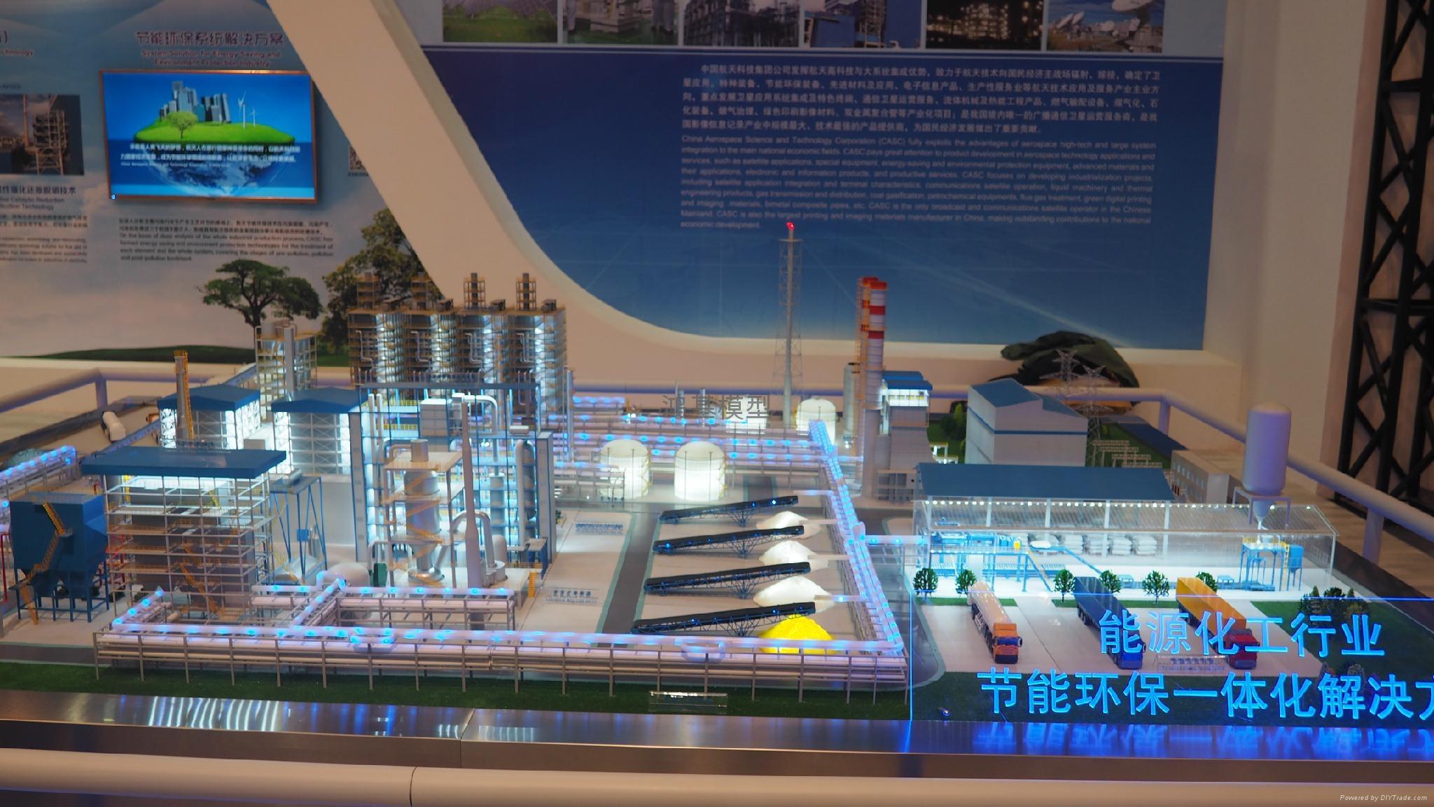 工业厂区沙盘模型 3