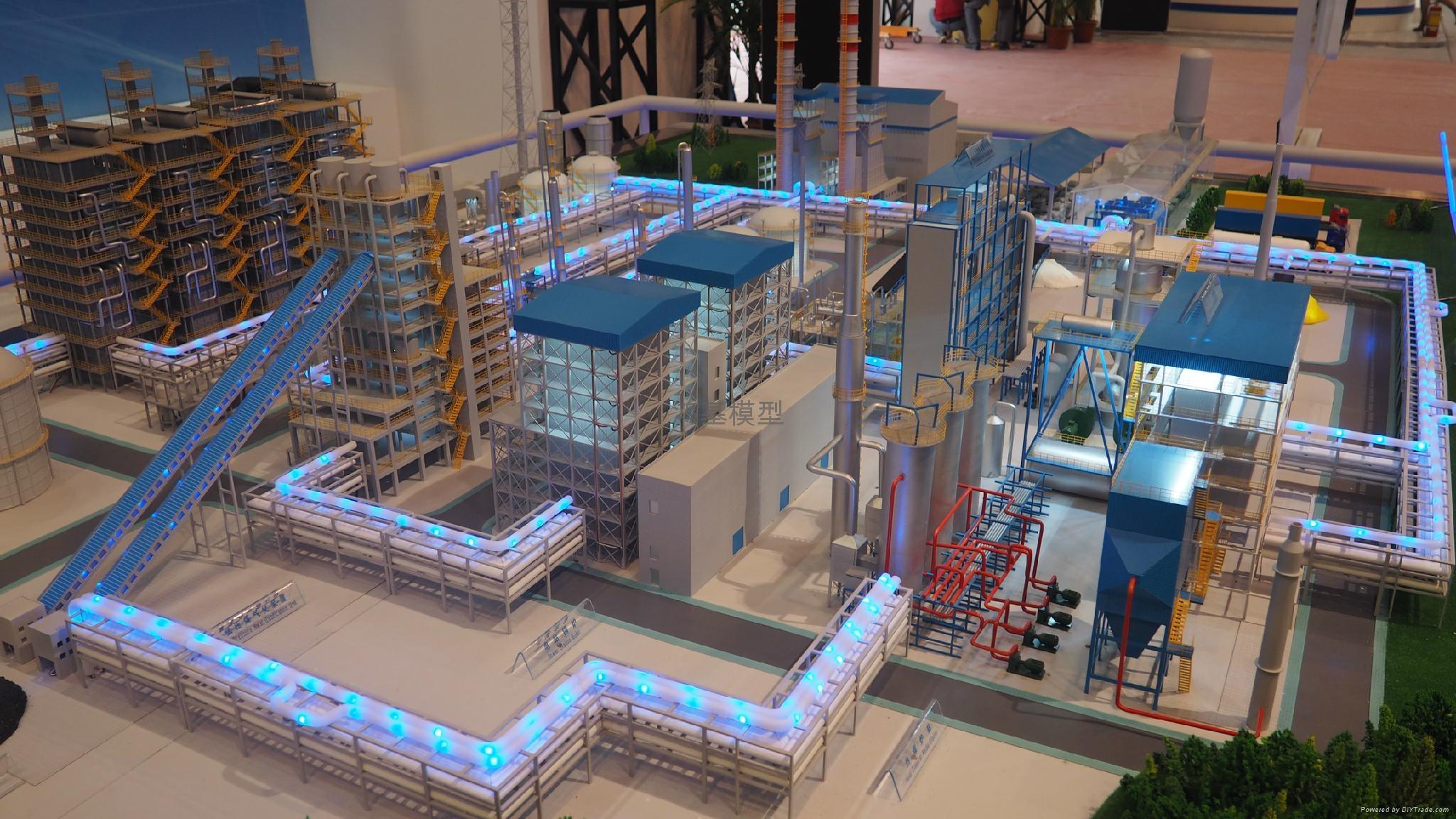 工业厂区沙盘模型 4