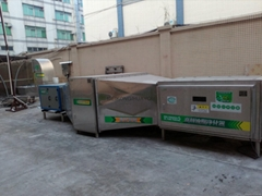 High frequency oil and fume purifier