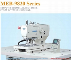 9820 Computer Controlled High Speed Eyelet Buttonhole Machine