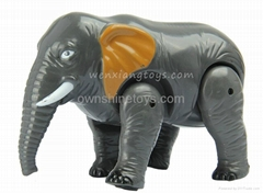 Electric Plastic Elephant Animal with Music Cartoon Toy