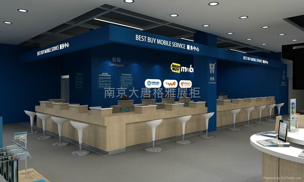 南京電腦手機展示櫃製作 1