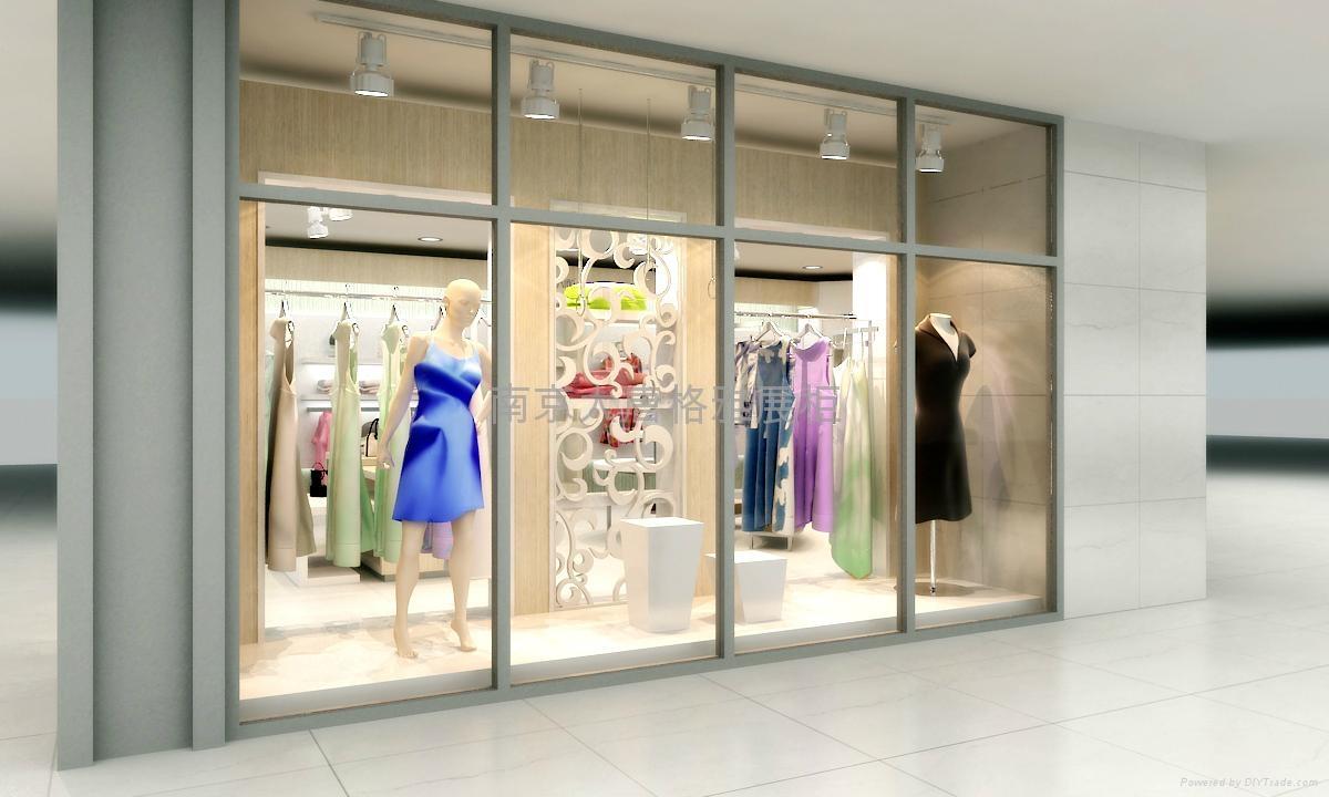 服裝展櫃製作廠家南京展示櫃設計製作 3