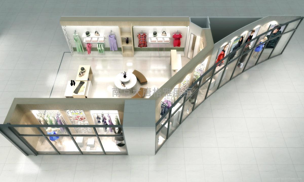 服装展柜制作厂家南京展示柜设计制作 2