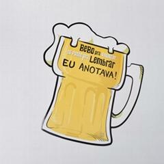 hot sale beer glass shape paper fridge magnets