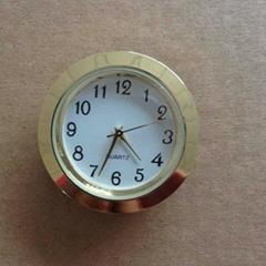 37mm gold  insert clcok fitup clock arabic dial insert clock