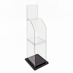 Acrylic Book Display Stand  Magazine Rack Holder