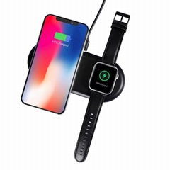 2 in 1 Dual Wireless Charger Pad for