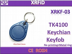 RFID Proximity ID Token Tag Key Ring 125Khz TK4100 RFID cards Red,Blue