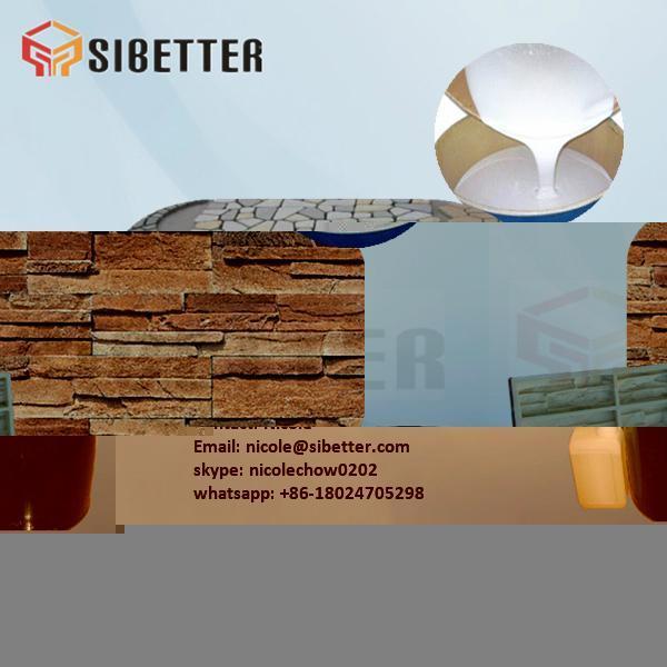 Translucent Platinum RTV Silicone for Culture Stone Molds 5