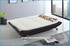 click clack leather sofa bed