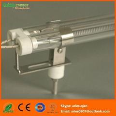 Medium wave IR lamp for laminated line heating