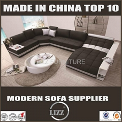 New design sectional U shape leather sofa