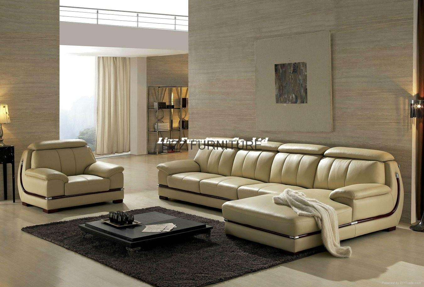 Living room l shape leather sofa set lz063 lizz china manufacturer living room furniture Living rooms with leather sofas