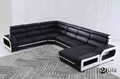 Australia new style modern living room sectional sofa with real leather