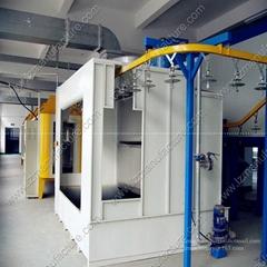 Powder coating machine spray booth