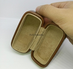high quality earphone leather case