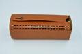 bluetooth speaker genuine leather case 5