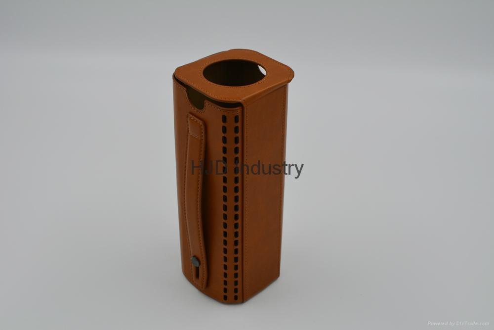 bluetooth speaker genuine leather case 6