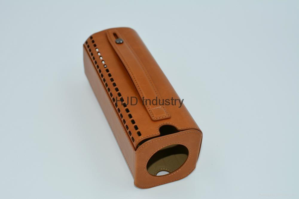 bluetooth speaker genuine leather case 4