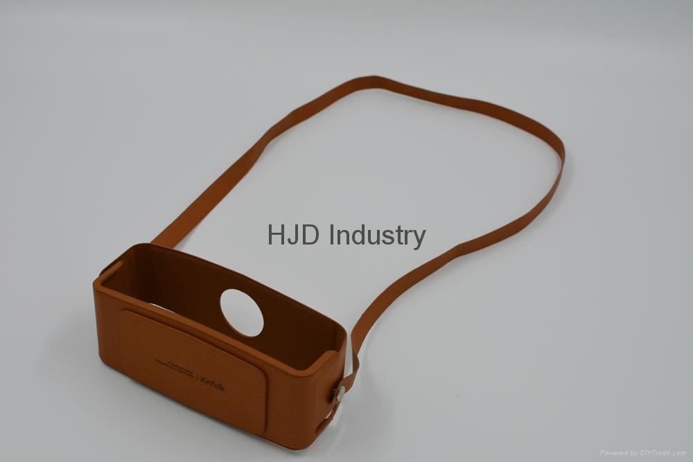 bluetooth speaker genuine leather case 8