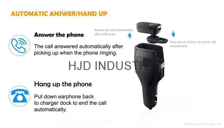 Car charger Bluetooth headset 5