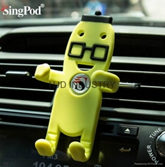 Promotional gifts cartoon silicone car mount holder (Hot Product - 1*)