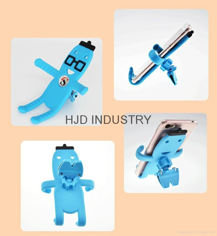 Promotional gifts cartoon silicone car mount holder 2