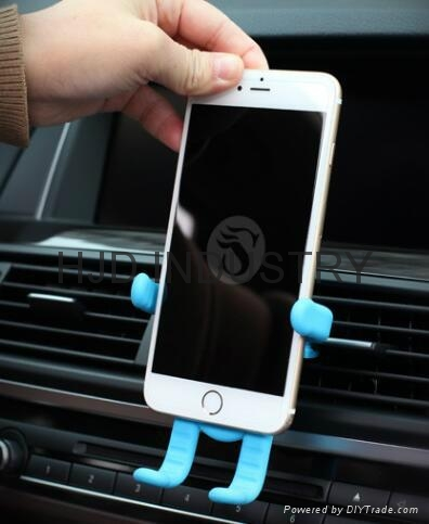 Cartoon Silicone Car Air Vent Phone Mount Holder for iPhone 7 plus Note 7 Car St 4